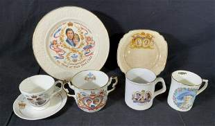 Lot 7 Royal Family Commemorative Dishes & Cups