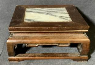 Group Lot 2 Wood & Marble Plant Stands