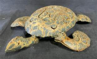 Metal Turtle Figural Sculpture