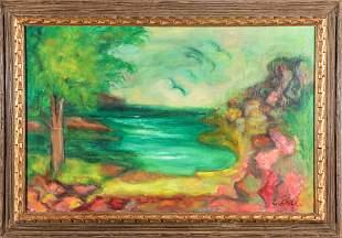 Lee Bell Modern Landscape Oil on Canvas