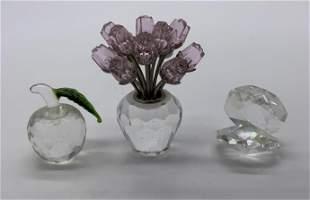 Lot 3 Crystal Figurines, SWAROVSKI & More