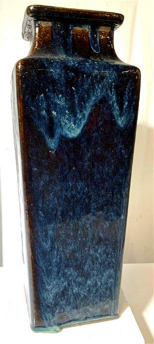 Modernist Vintage Glazed Stoneware Vase