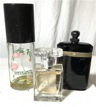 Group 3 Vintage Perfume Bottles, France