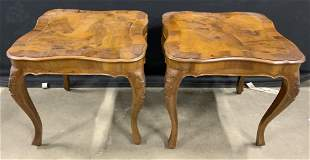 Vintage Carved Wooden Italian Side Tables