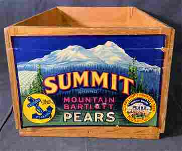 Vintage SUMMIT Brand Wooden Crate