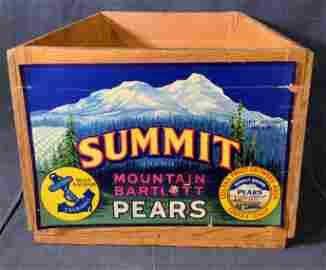Vintage SUMMIT Brand Wooden Crate
