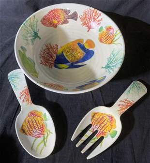 Lot 4 Ocean Themed Serving Accessories