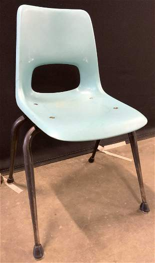 Pair Vintage School Desk Chairs