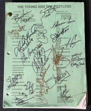 Signed The Young and the Restless Script