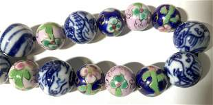 Cloisonné & Porcelain Bead Necklace, Jewelry