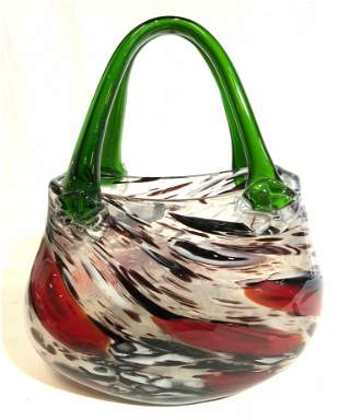 Hand Blown MURANO Glass Purse Decorative Accessory