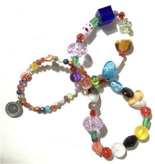 Chunky Mixed Bead Bracelet Set, Costume Jewelry