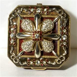 Collect. Joan Rivers Crystal & Enamel Trinket Box
