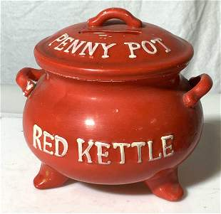 Vintage Collectible Lego Red Kettle Penny Pot