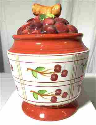 Alco Ind. Ceramic Cherry Fruit Jar