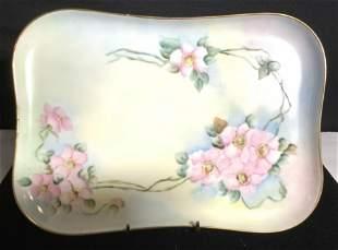 Vintage LIMOGES France Porcelain Tray