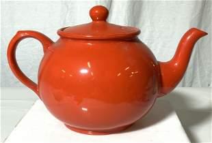 Arthur Wood Red Ceramic Teapot, England