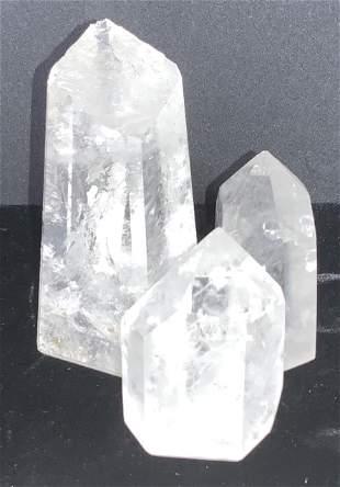 Set 3 Natural Mineral Prisms