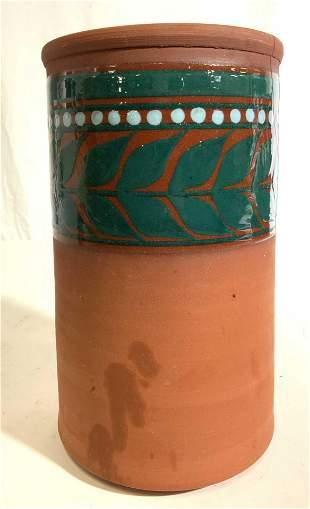 Signed Hand Painted Ceramic Vase