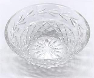 WATERFORD Signed Cut Crystal Bowl