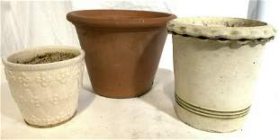 Lot 3 Assorted Ceramic Planters