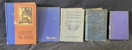 Group Lot 5 Vintage & Antique Books