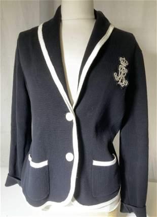 Ralph Lauren Cotton Knit Blazer