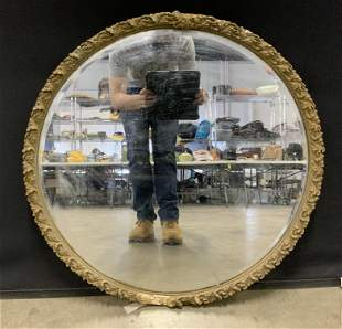 Vintage Carved Wood Framed Mirror