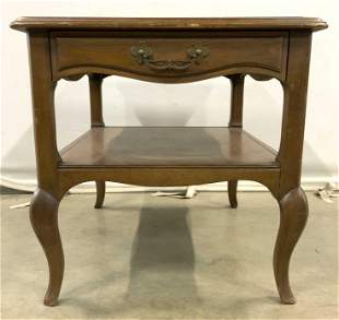 DREXEL Vintage Side Table W Drawer