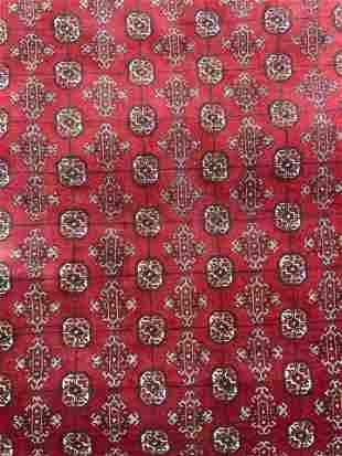 Vintage Caucasian Handmade Wool Area Rug
