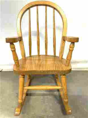 Vintage Wooden Children's Rocking Chair