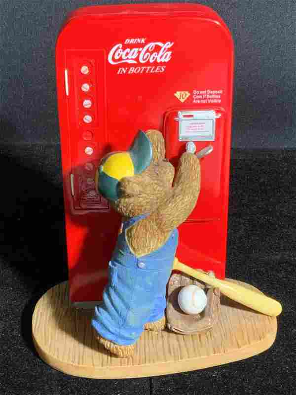 MEMORIES TO CHERISH Coca Cola Ceramic Bear Figural