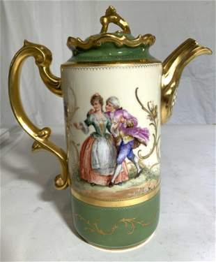 DRESDEN GERMANY Porcelain Pitcher W Lid