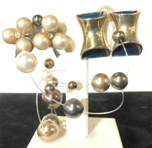 Lot 3 Fashion Earrings, VITOGE, ORENA PARIS, more