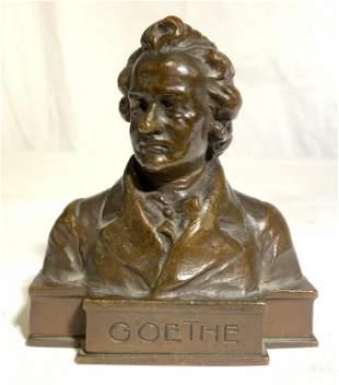 Signed H MULLER GOETHE Bronze Figure