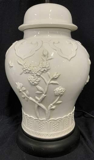 Glazed Ceramic Asian Style Lamp