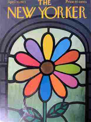 CHARLES E MARTIN The New Yorker Offset Lithograph