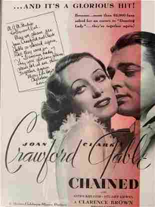 Chained Movie Poster Offset Lithograph