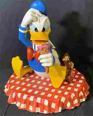 Artist Signed Disney Donald Duck Sculpture 17 in H