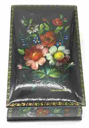 Collectible & Signed Floral Lacquered Box