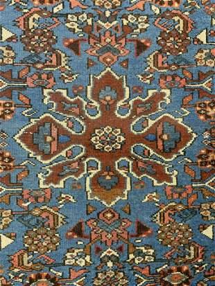 Vintage Wool Fringed Area Carpet