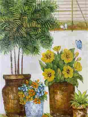 ALISHER Signed Oil Painting Artwork