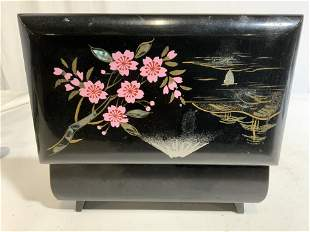 Asian Style Lacquered Trinket Music Box