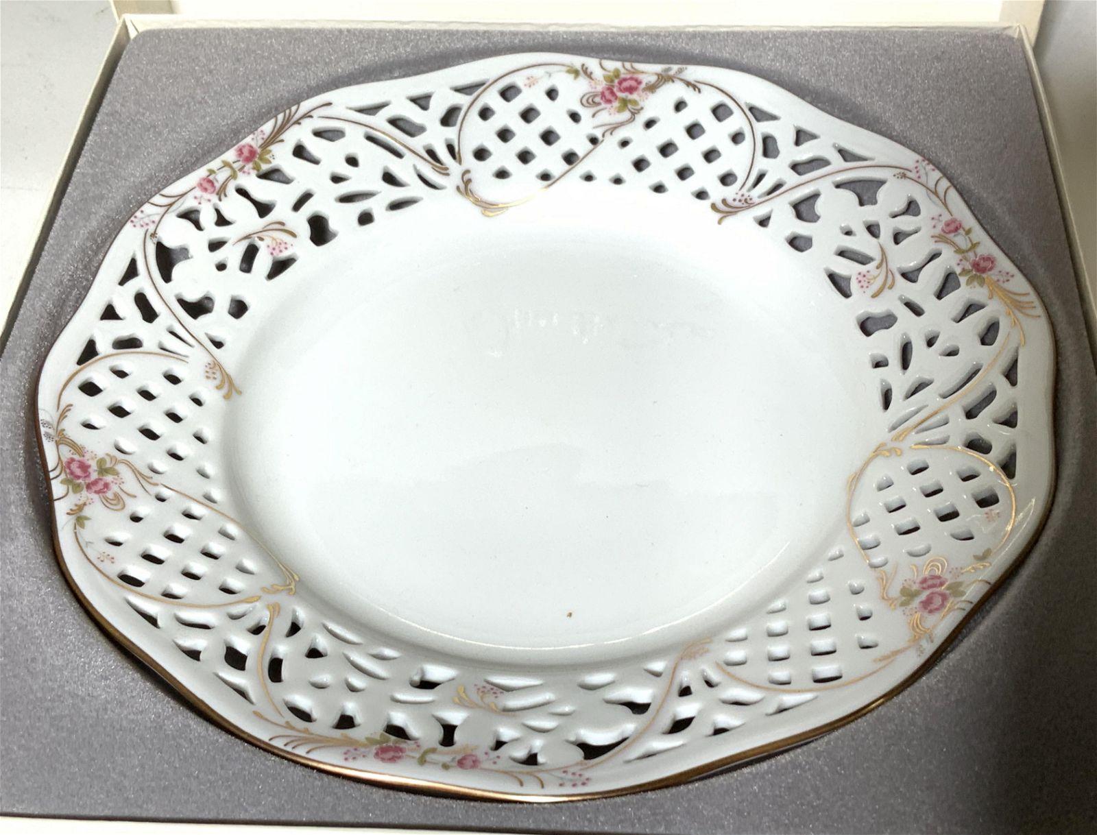 Oscar de la Renta Porcelain Plate in Original