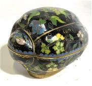 Vintage Asian Enameled Cloisonné Trinket Box