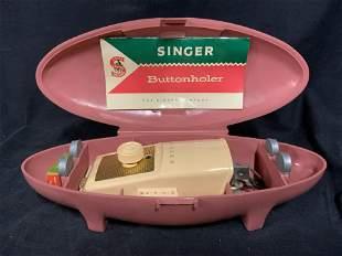 Vintage SINGER SEWING MACHINES Buttonholder