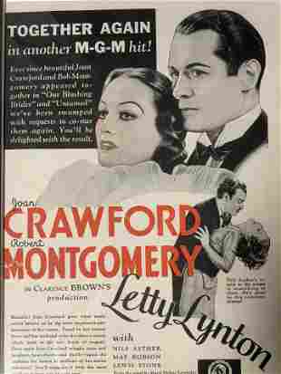 Letty Lynton Movie Poster Offset Lithograph