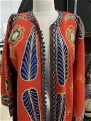 Vintage Appliqué Native People Felt Robe