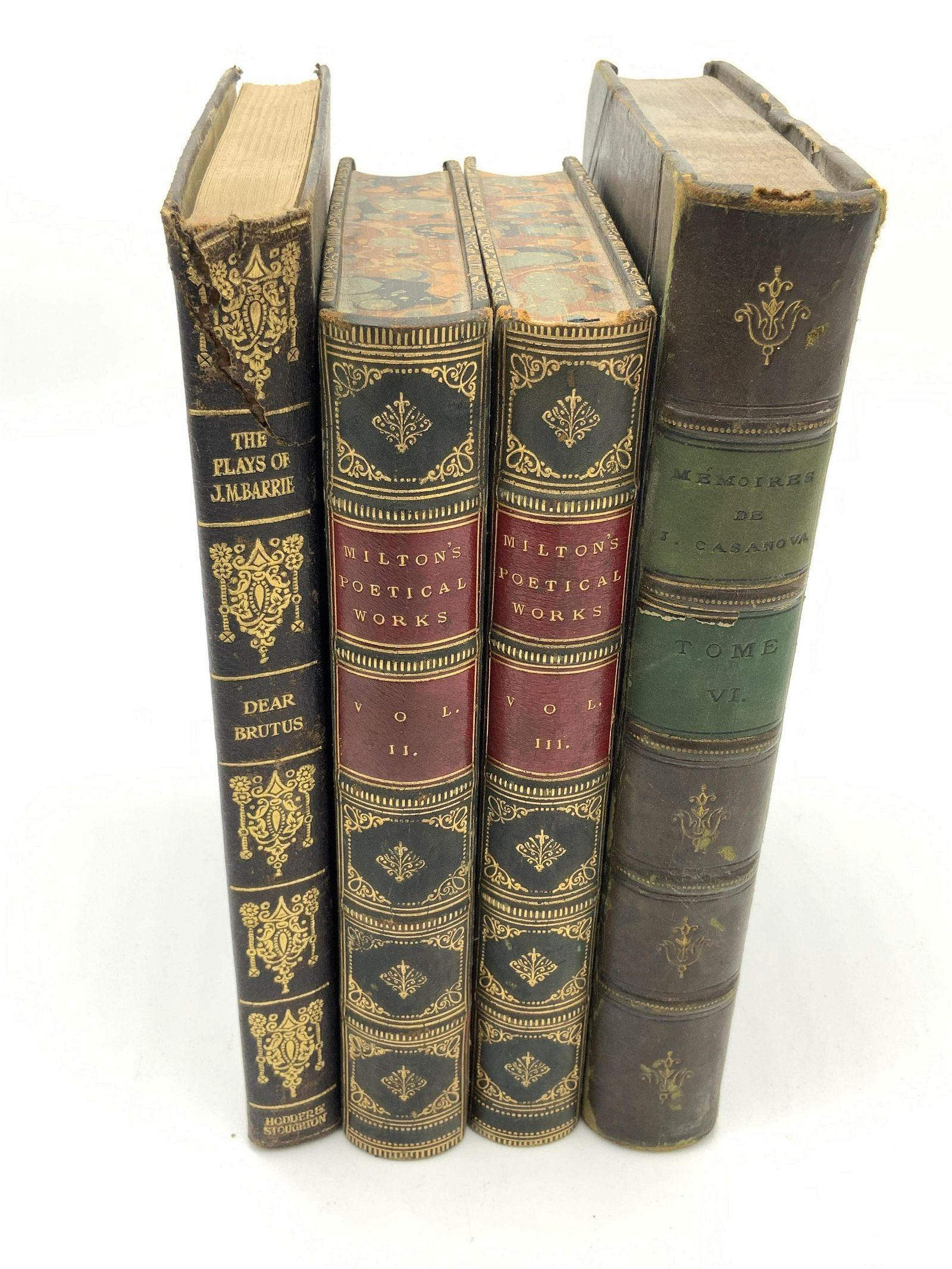 Group Lot 4 Vintage & Antique Books