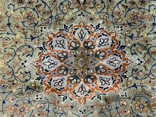 Fringed Wool Persian Carpet